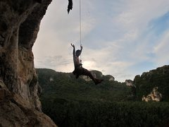 Rock Climbing Photo: hanging out in space. Thailand