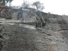 Rock Climbing Photo: Joshua Corbett tackles the cracks of the upper hea...