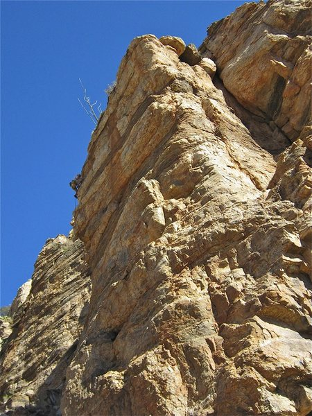 Rock Climbing Photo: JSt finishing up the route.