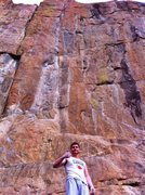 Rock Climbing Photo: Standing at the base of the super classic O.D.K. T...