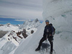 Rock Climbing Photo: near the summit of Yanapaccha (17,913ft) in the Co...