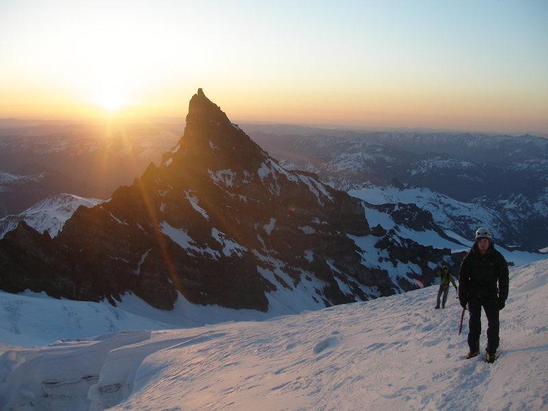 on the way up Mount Rainier