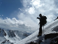 Rock Climbing Photo: on the way down after a winter ascent of Mount Sne...