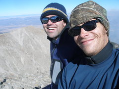 Rock Climbing Photo: on top of my 1st Colorado 14er, in 2008 with Dirk ...