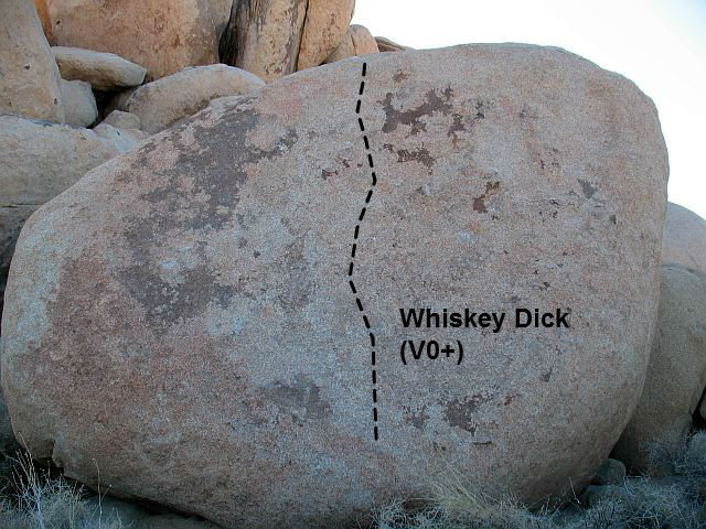 Whiskey Dick (V0+), Joshua Tree NP