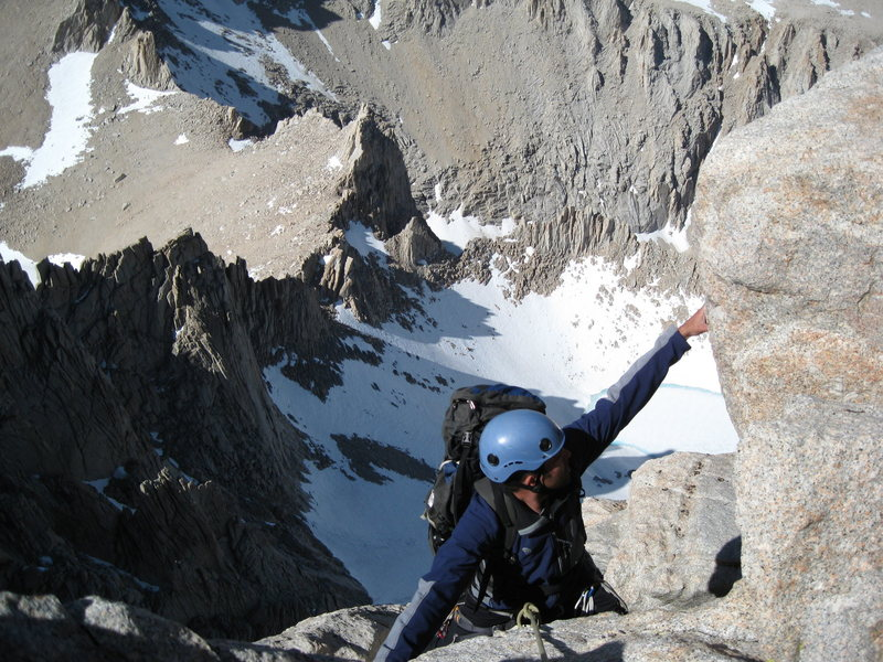 climbing on the East Buttress of Mount Whitney, California