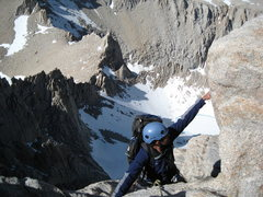 Rock Climbing Photo: climbing on the East Buttress of Mount Whitney, Ca...