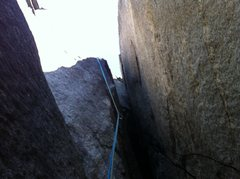 Rock Climbing Photo: This is the start of the second pitch of Fruit Loo...