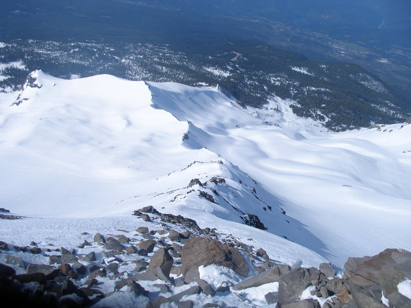 Rock Climbing Photo: looking down Cassaval Ridge from close to the top