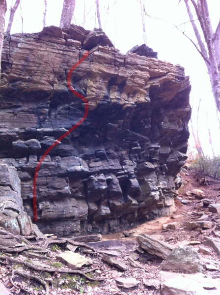 Rock Climbing Photo: Happy Hooker 5.12a