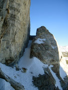 Rock Climbing Photo: A look at the hidden traverse from the top of the ...