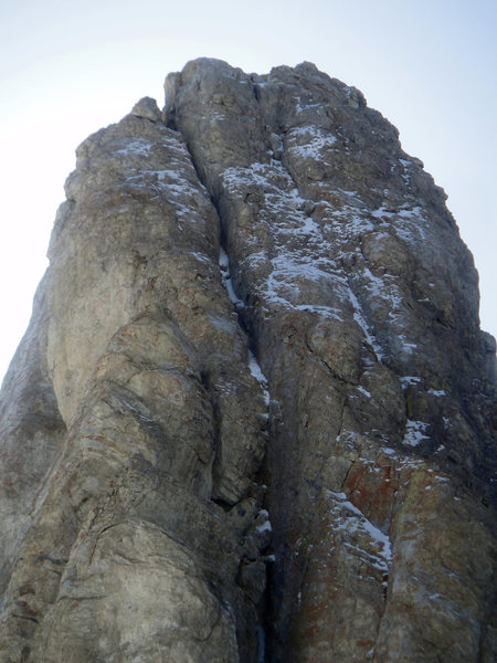 Rock Climbing Photo: The upper slabs.