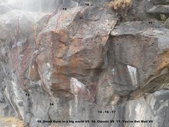 Rock Climbing Photo: topo of right side