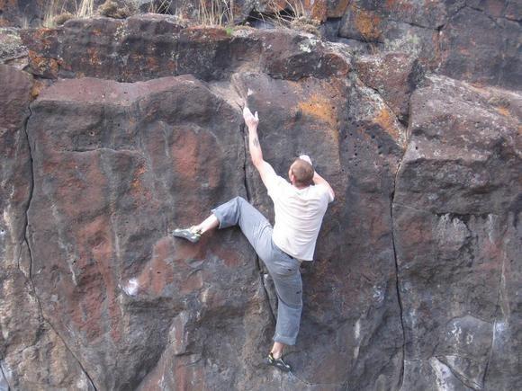 Rock Climbing Photo: last move on Drop Knee...