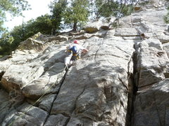 Rock Climbing Photo: Close to the bottom, Bill?