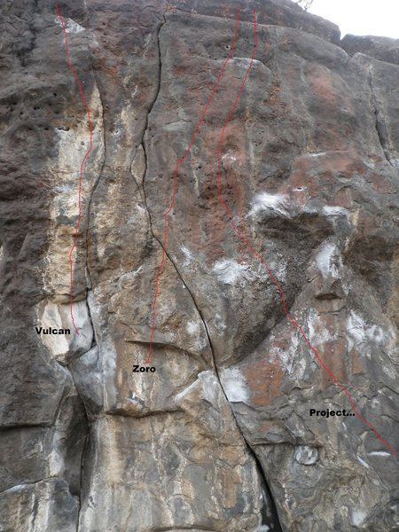 Rock Climbing Photo: Close up view of the hard ones
