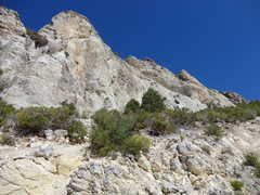 Rock Climbing Photo: View of the crag prior to approach ascent