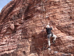 Rock Climbing Photo: Headin up the route.