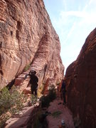Rock Climbing Photo: Young clan Ninja starting the ascent.