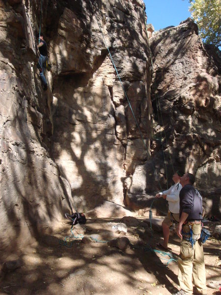 Rock Climbing Photo: A nice shot of of the close proximity of the route...