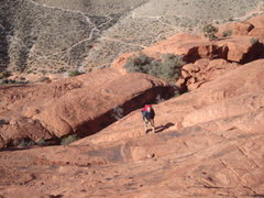 Rock Climbing Photo: Dave makin his way up the final climb of the appro...