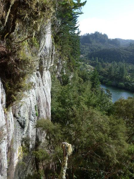Rock Climbing Photo: View down Millennium Wall