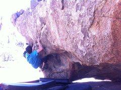 Rock Climbing Photo: Jon Trask working Kranium Center