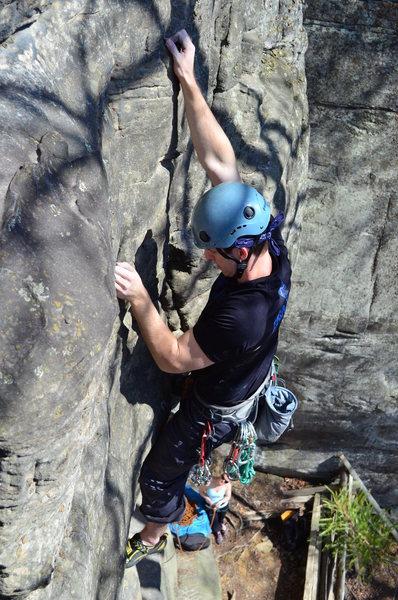 Rock Climbing Photo: Mid crux.