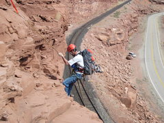 Rock Climbing Photo: rap back to tracks