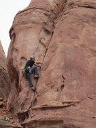Rock Climbing Photo: gary on the second