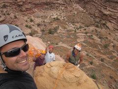 Rock Climbing Photo: the crew up top