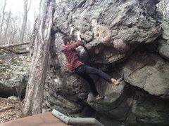 Rock Climbing Photo: Aaron James Parlier on the FA of Saber-Toothed.