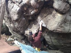 Rock Climbing Photo: Aaron James Parlier on the start and FA of Pteroda...