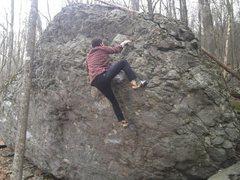 Rock Climbing Photo: Aaron James Parlier on the FA of Boogy Man