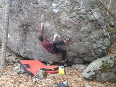 Rock Climbing Photo: Aaron James Parlier on the FA of Boogy Man, Wildwo...