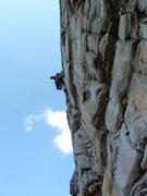 Rock Climbing Photo: Barry in the Business, killer climbing