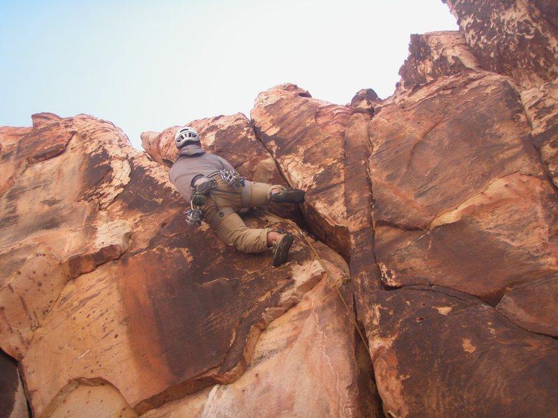 Rock Climbing Photo: Weston L leading Jam Session