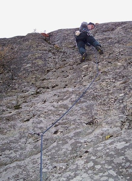 Rock Climbing Photo: KC on the upper slab. Circa 2007.