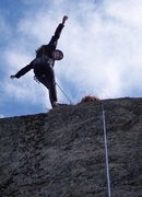 Rock Climbing Photo: Betsy doing her victory pose. This photo was taken...