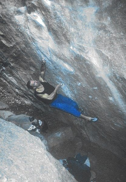 Rock Climbing Photo: KC, 1994.