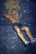 Rock Climbing Photo: KC doing the victory pose after sending a long tra...