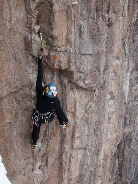 Rock Climbing Photo: Tic Tac, Ouray, CO WI3 M7