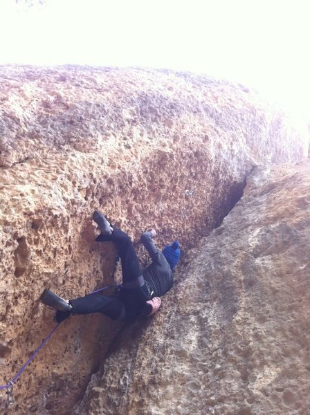 Rock Climbing Photo: 5.11 Warm-up, Margalef, Spain