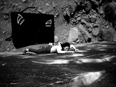 Rock Climbing Photo: Warm up at Big Bend, UT