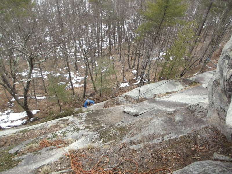 Rock Climbing Photo: The lower crux