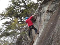 Rock Climbing Photo: Jon sailing the roof