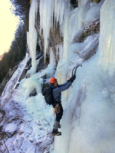 Rock Climbing Photo: The final steep section at the top of Screw and Cl...