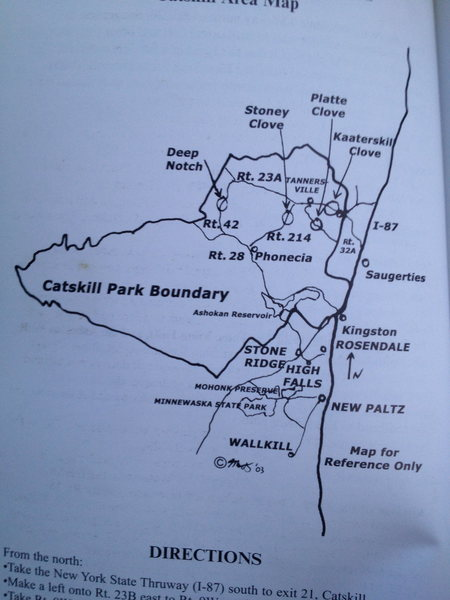 General map of catskill park