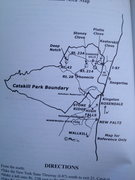 Rock Climbing Photo: General map of catskill park