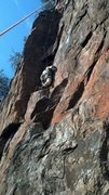 Rock Climbing Photo: The first ascencionist repeats this classic line.